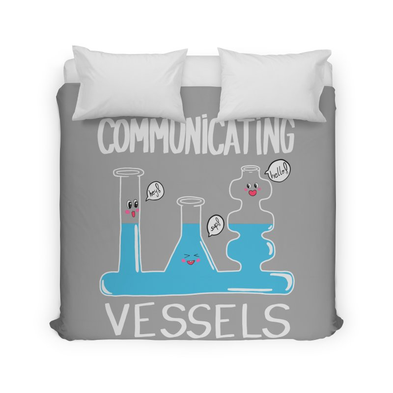 Communicating Vessels Home Duvet by Hello Siyi