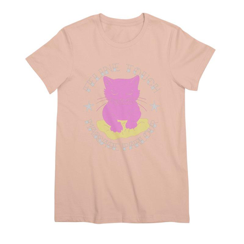 Feline Touch Massage Parlour Women's Premium T-Shirt by Hello Siyi