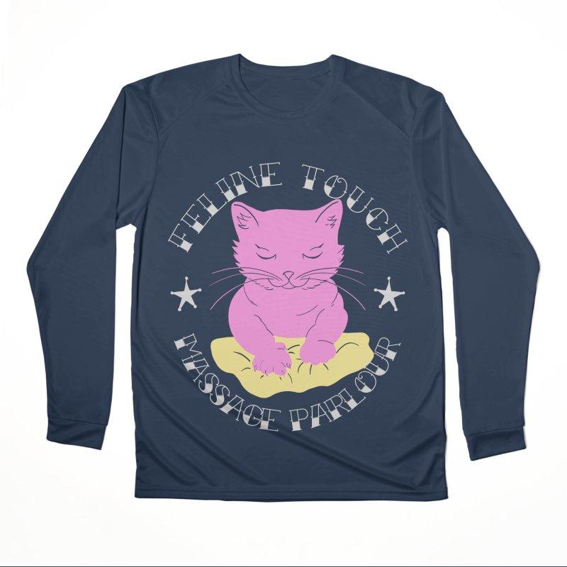 Feline Touch Massage Parlour Women's Performance Unisex Longsleeve T-Shirt by Hello Siyi