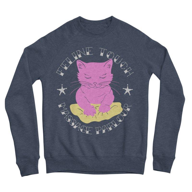 Feline Touch Massage Parlour Women's Sponge Fleece Sweatshirt by Hello Siyi