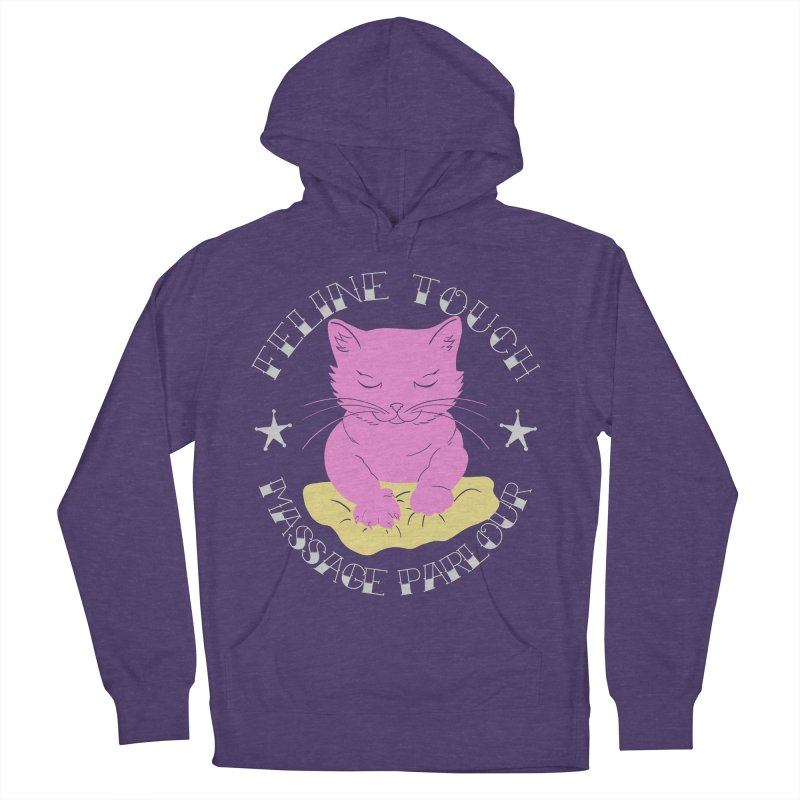 Feline Touch Massage Parlour Women's French Terry Pullover Hoody by Hello Siyi