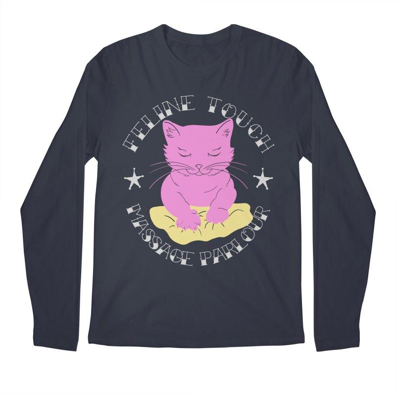 Feline Touch Massage Parlour Men's Regular Longsleeve T-Shirt by Hello Siyi