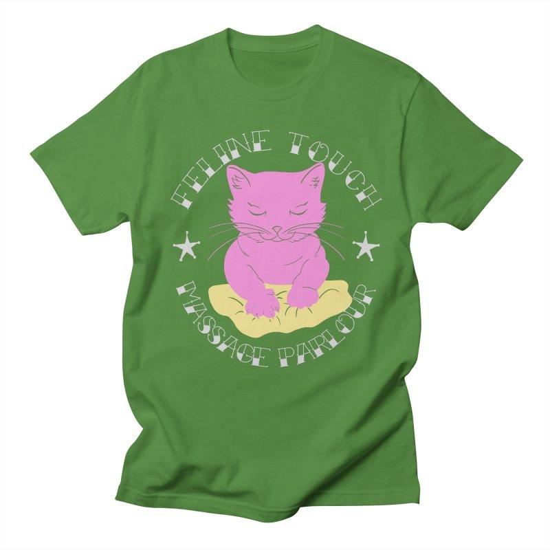 Feline Touch Massage Parlour Men's Regular T-Shirt by Hello Siyi