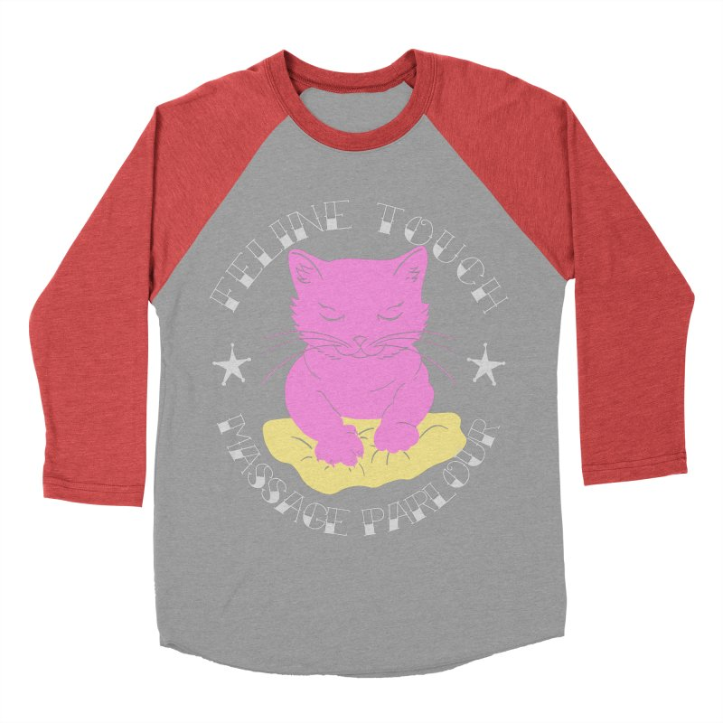 Feline Touch Massage Parlour Women's Baseball Triblend Longsleeve T-Shirt by Hello Siyi