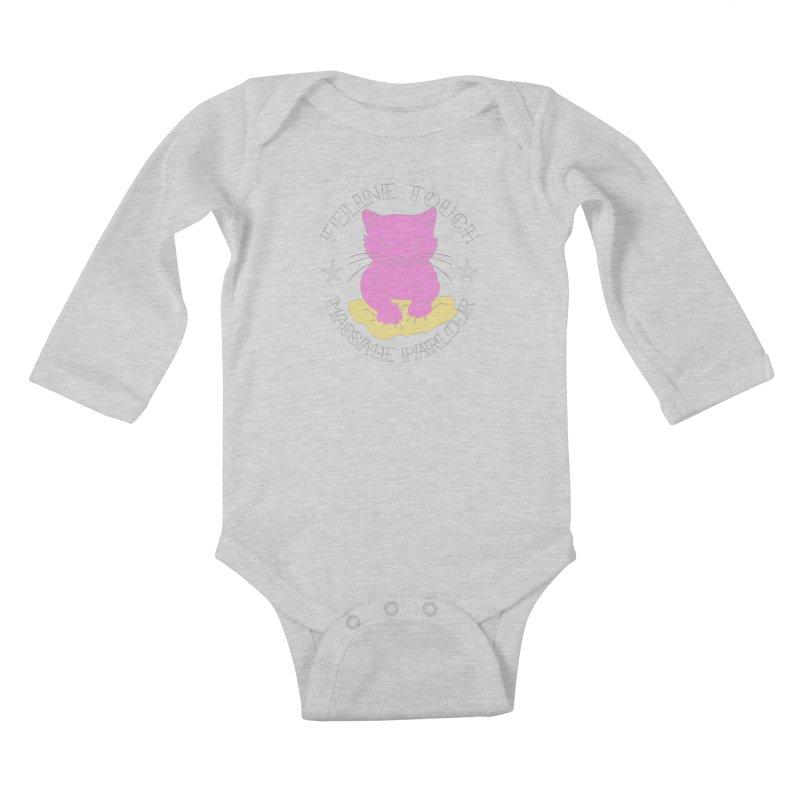 Feline Touch Massage Parlour Kids Baby Longsleeve Bodysuit by Hello Siyi