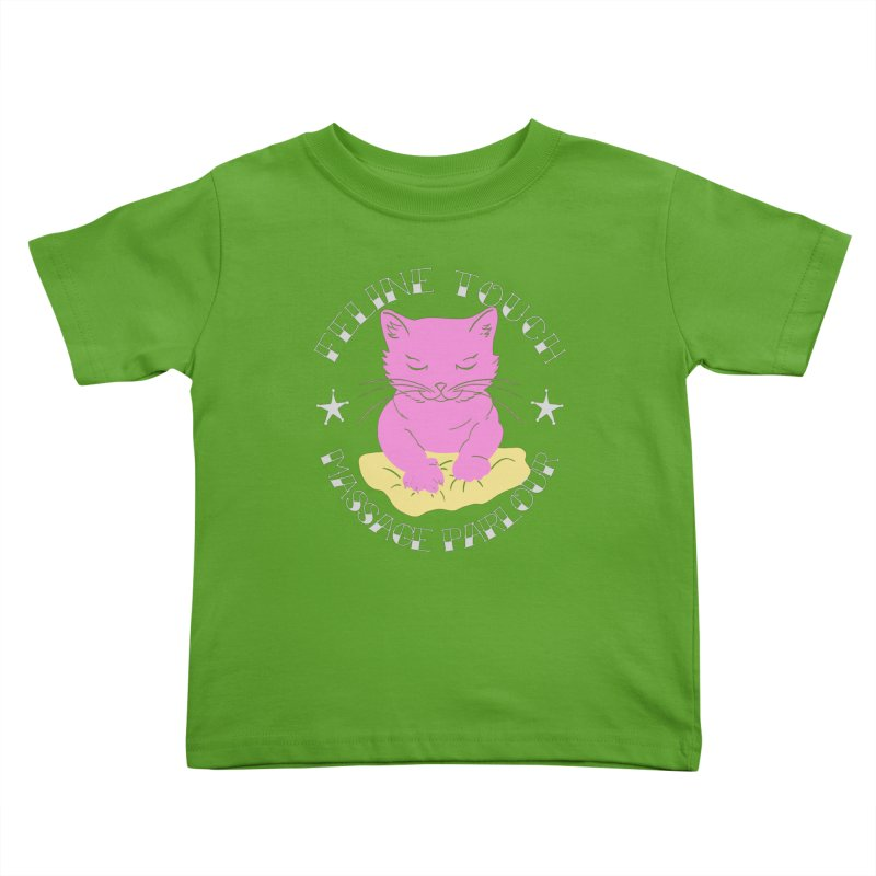 Feline Touch Massage Parlour Kids Toddler T-Shirt by Hello Siyi