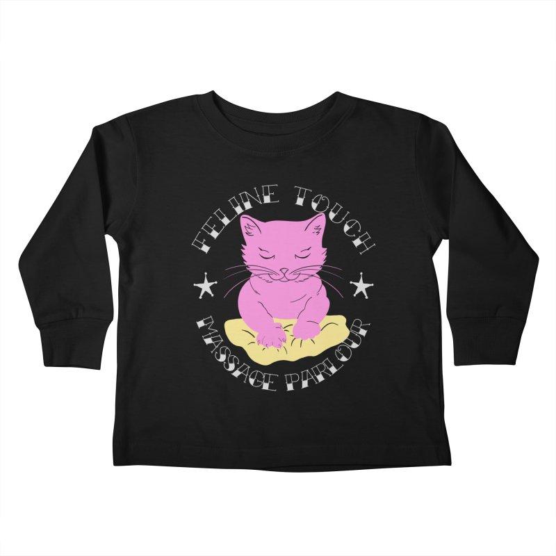 Feline Touch Massage Parlour Kids Toddler Longsleeve T-Shirt by Hello Siyi