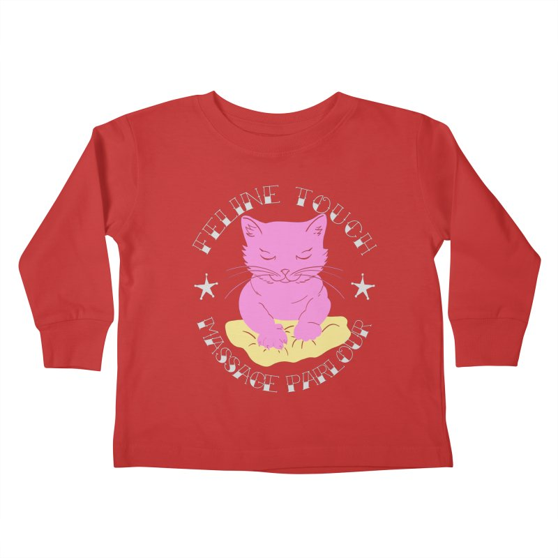 Feline Touch Massage Parlour Kids Toddler Longsleeve T-Shirt by Hello Siyi