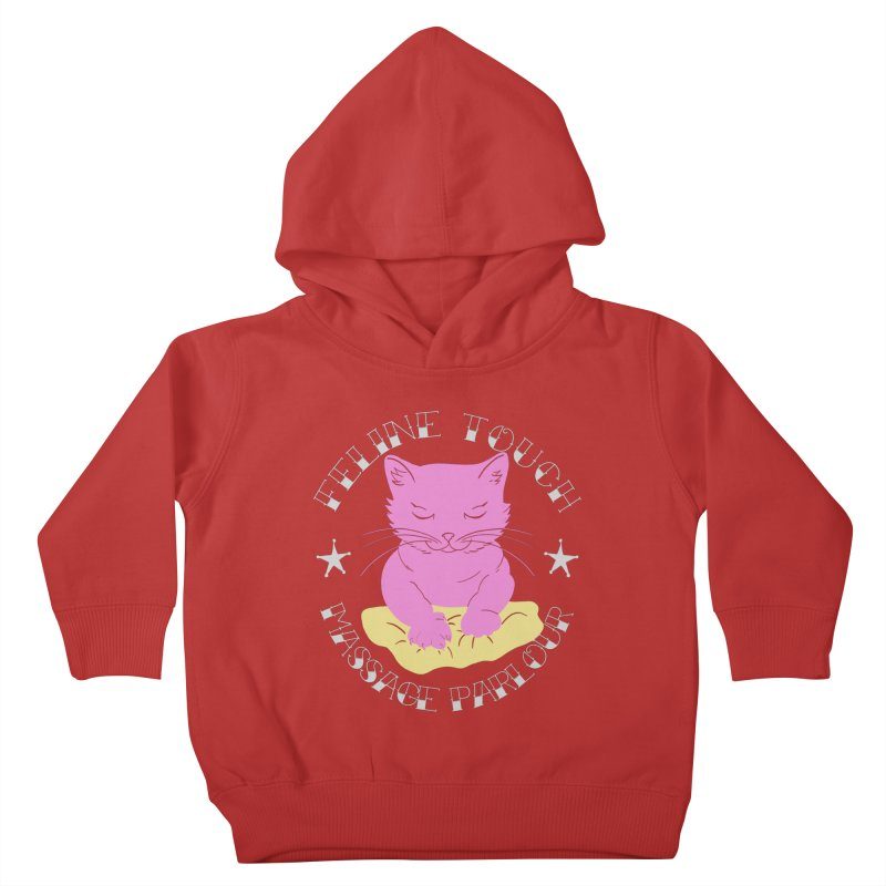 Feline Touch Massage Parlour Kids Toddler Pullover Hoody by Hello Siyi