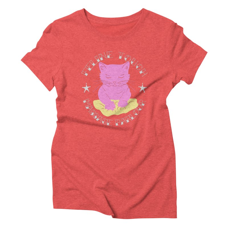Feline Touch Massage Parlour Women's Triblend T-Shirt by Hello Siyi