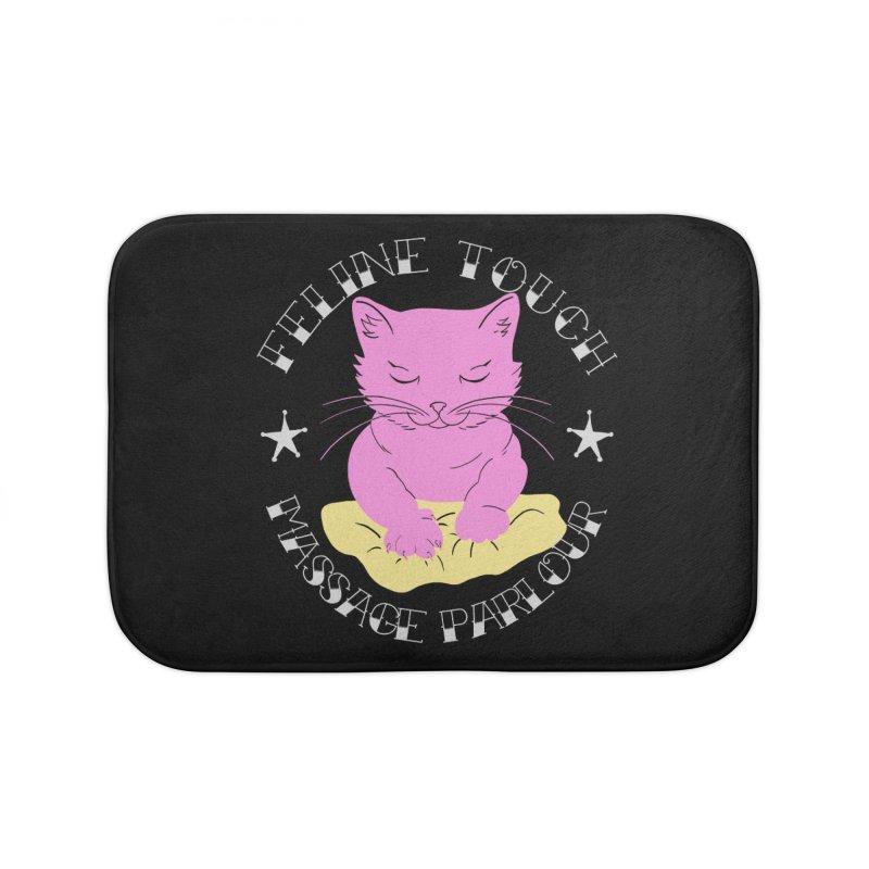 Feline Touch Massage Parlour Home Bath Mat by Hello Siyi