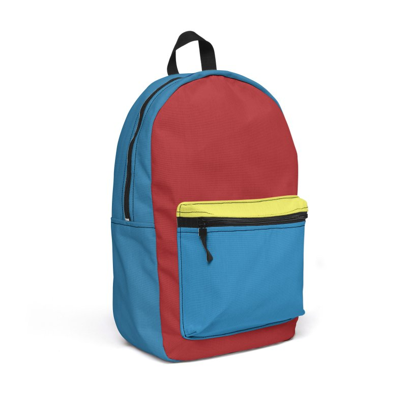 Color Block #4 Accessories Backpack Bag by Hello Siyi
