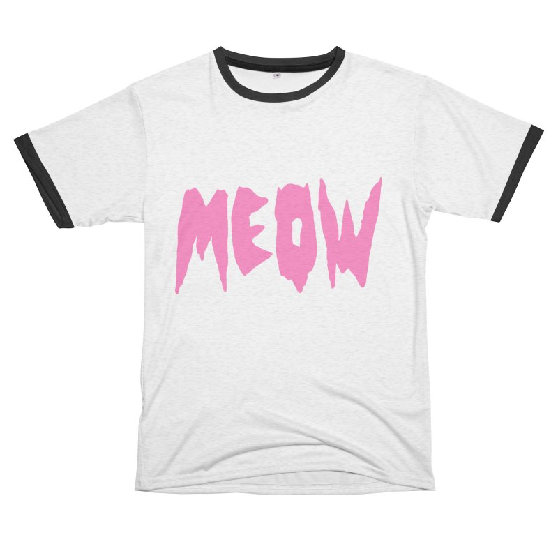 Meow Women's Unisex French Terry T-Shirt Cut & Sew by Hello Siyi