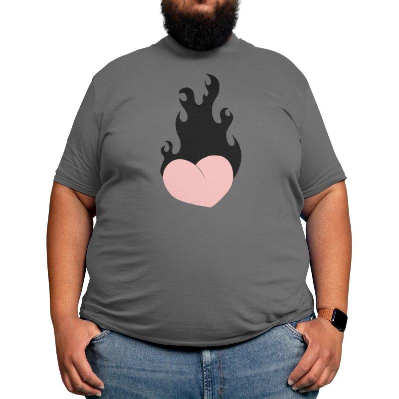 Burning heart Men's T-Shirt by Hey Siyi