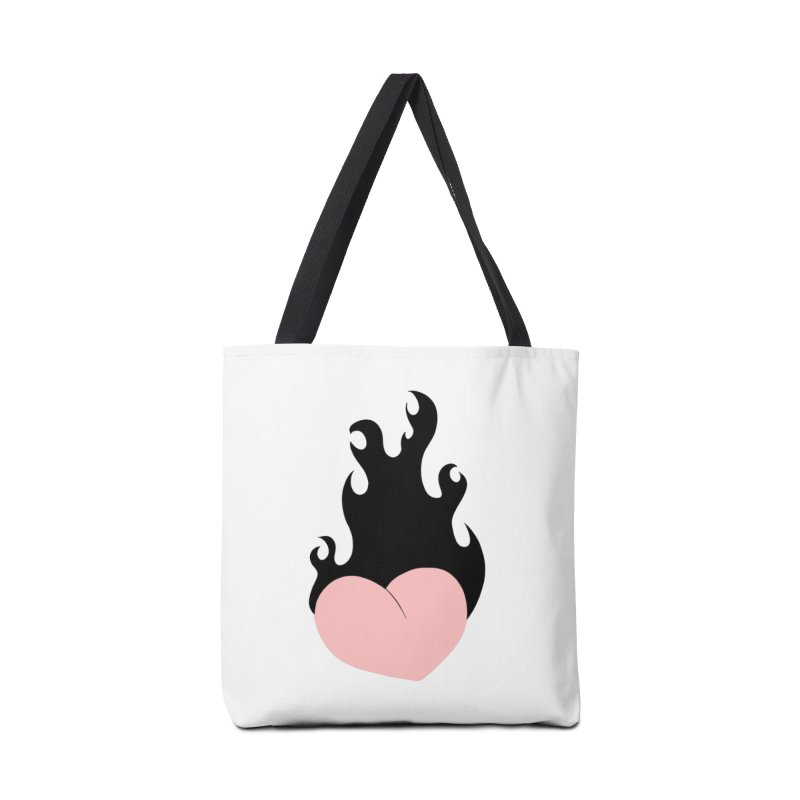 Burning heart Accessories Tote Bag Bag by Hello Siyi