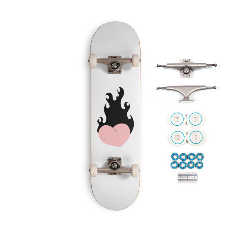 Burning heart Accessories Skateboard by Hello Siyi