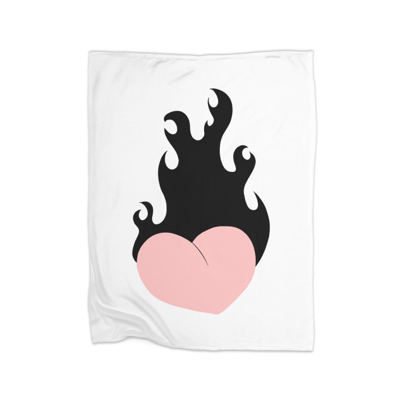 Burning heart Home Blanket by Hello Siyi