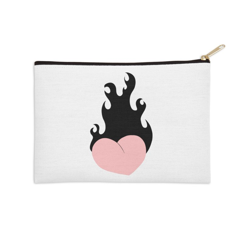 Burning heart Accessories Zip Pouch by Hello Siyi