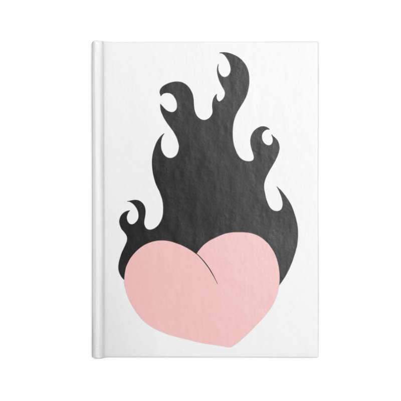 Burning heart Accessories Lined Journal Notebook by Hello Siyi