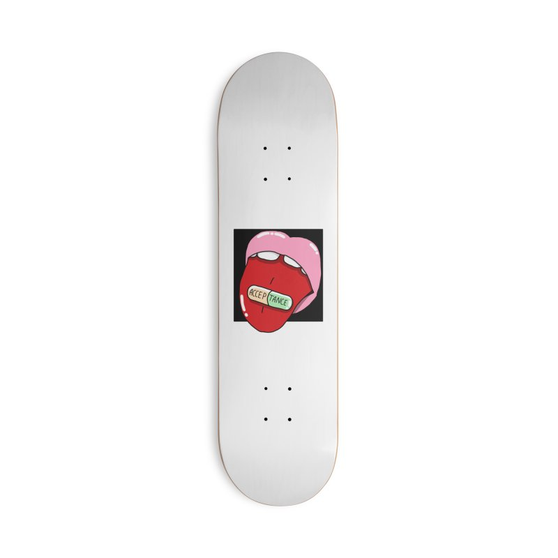 Acceptance pill Accessories Deck Only Skateboard by Hello Siyi