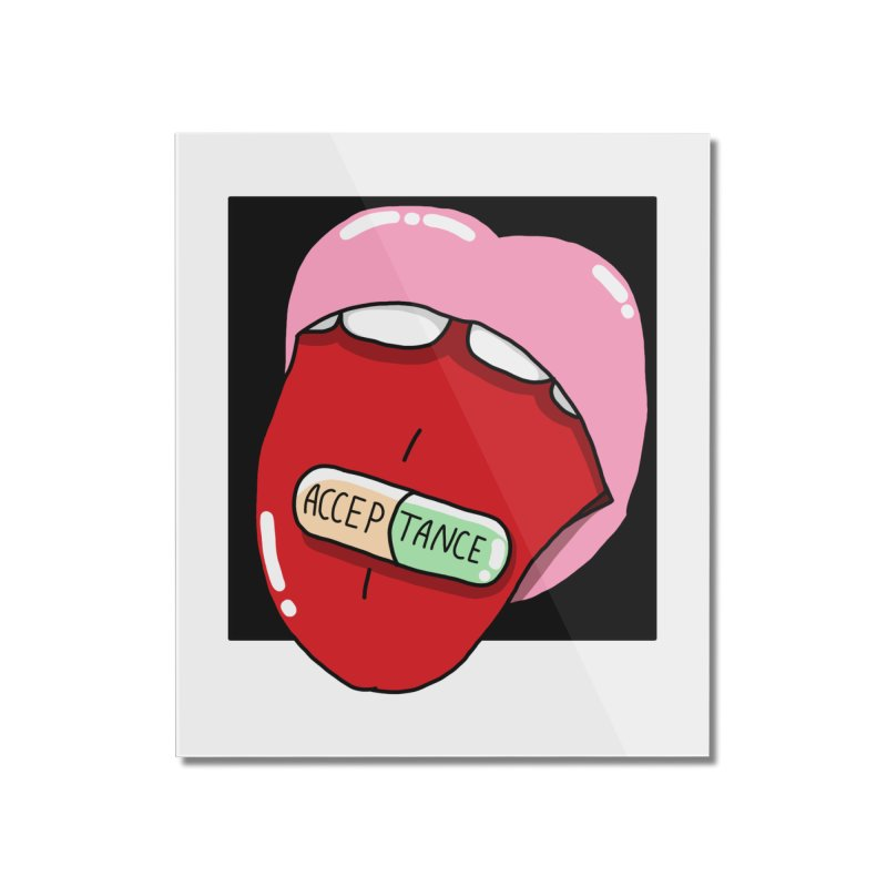 Acceptance pill Home Mounted Acrylic Print by Hello Siyi