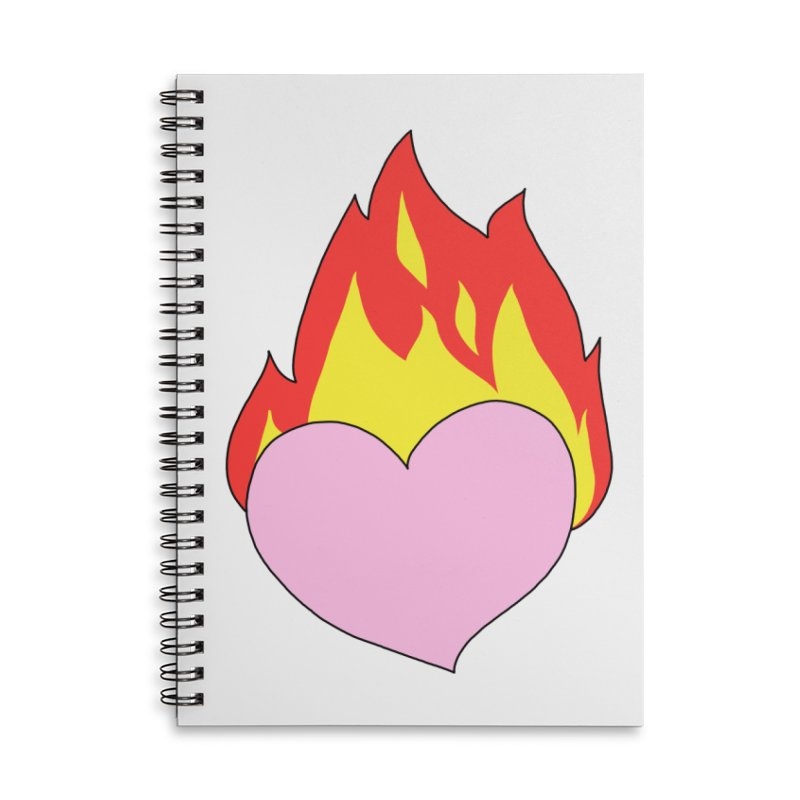 Fiery heart Accessories Lined Spiral Notebook by Hello Siyi