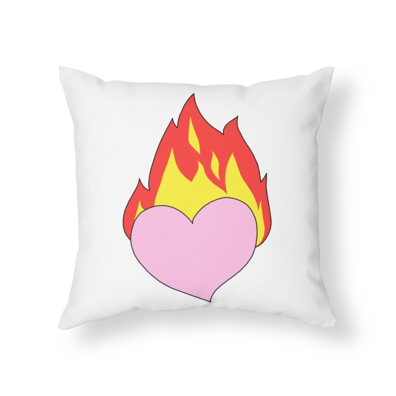 Fiery heart Home Throw Pillow by Hello Siyi