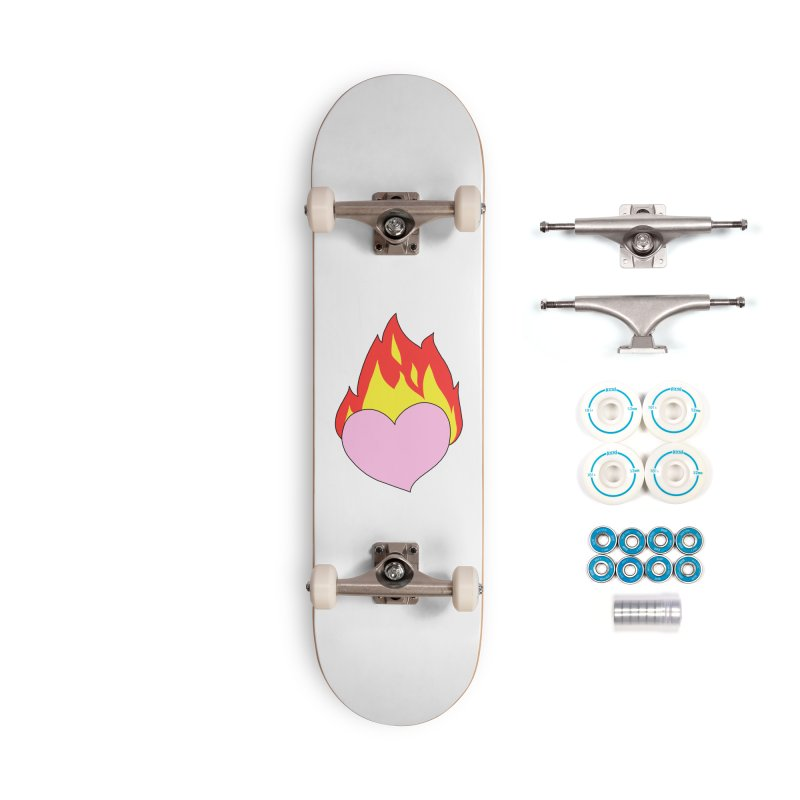 Fiery heart Accessories Complete - Basic Skateboard by Hello Siyi