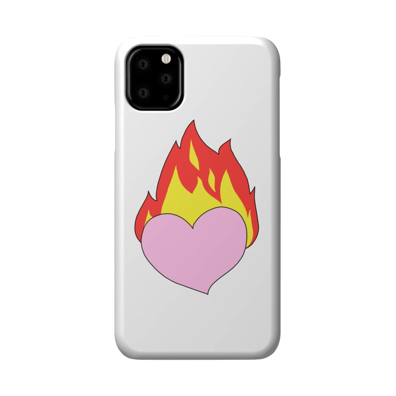 Fiery heart Accessories Phone Case by Hello Siyi