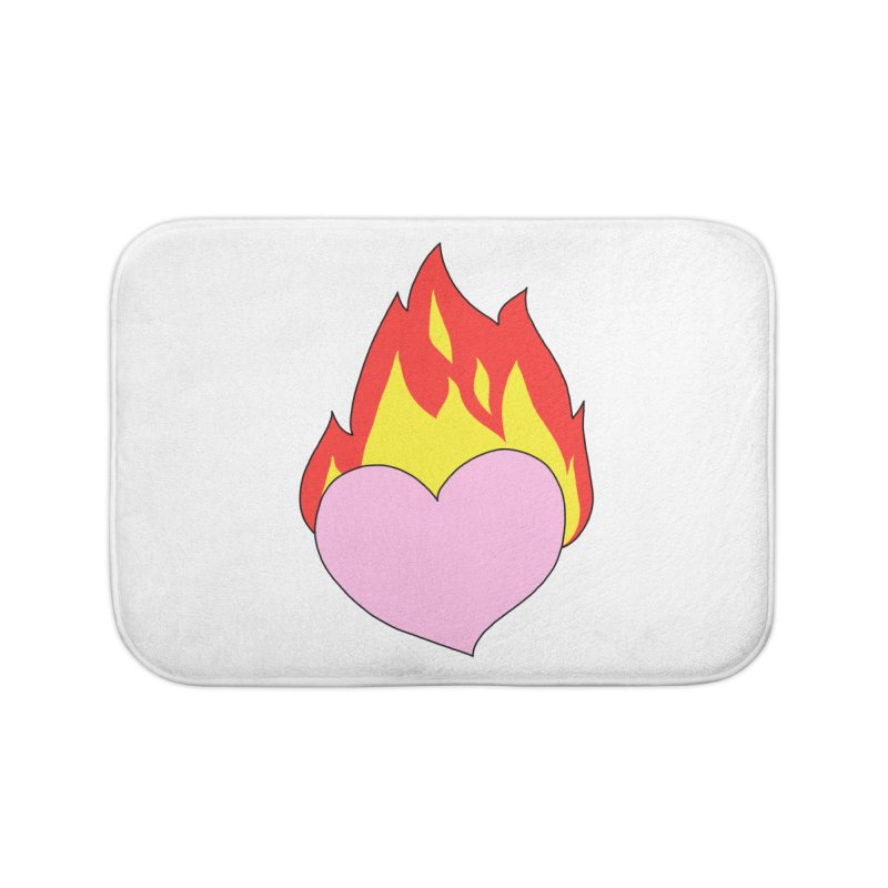 Fiery heart Home Bath Mat by Hello Siyi