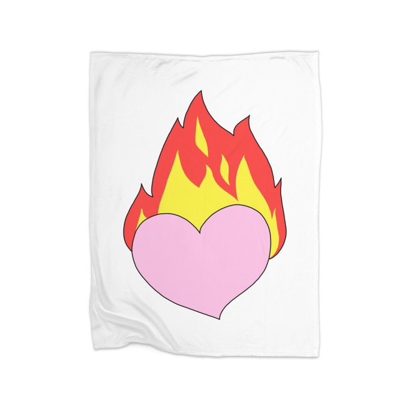 Fiery heart Home Blanket by Hello Siyi