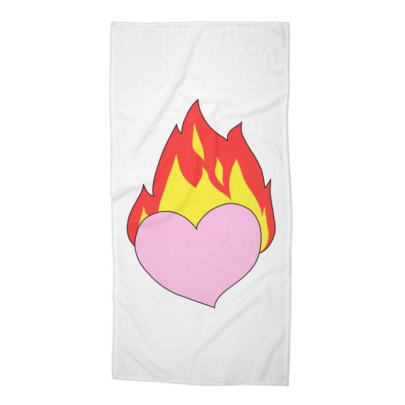 Fiery heart Accessories Beach Towel by Hello Siyi