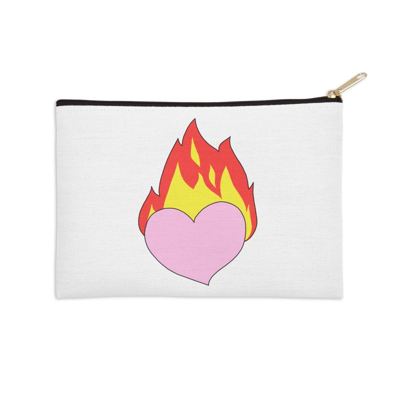 Fiery heart Accessories Zip Pouch by Hello Siyi