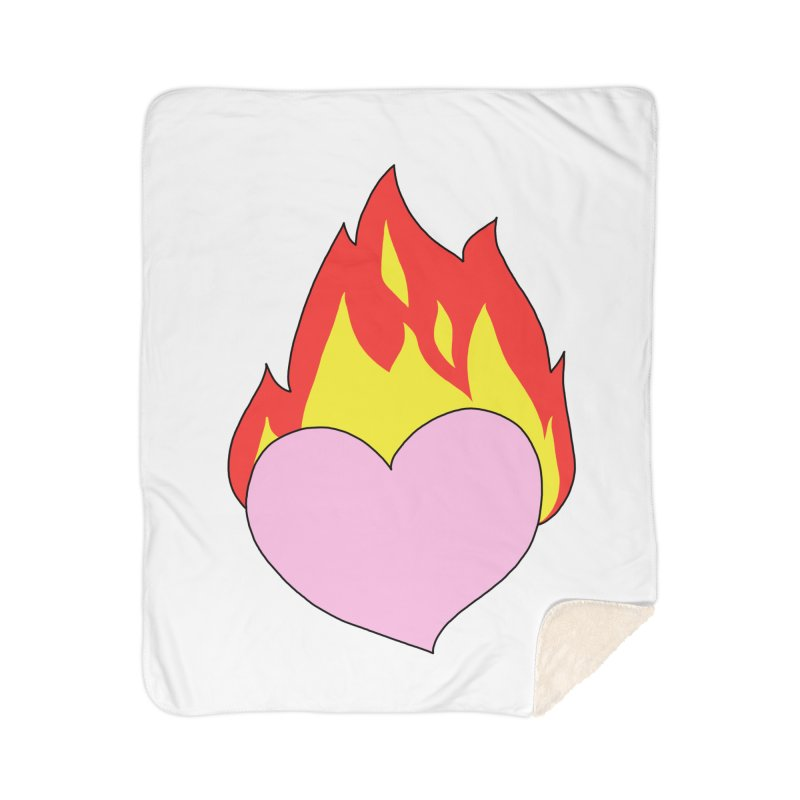 Fiery heart Home Sherpa Blanket Blanket by Hello Siyi