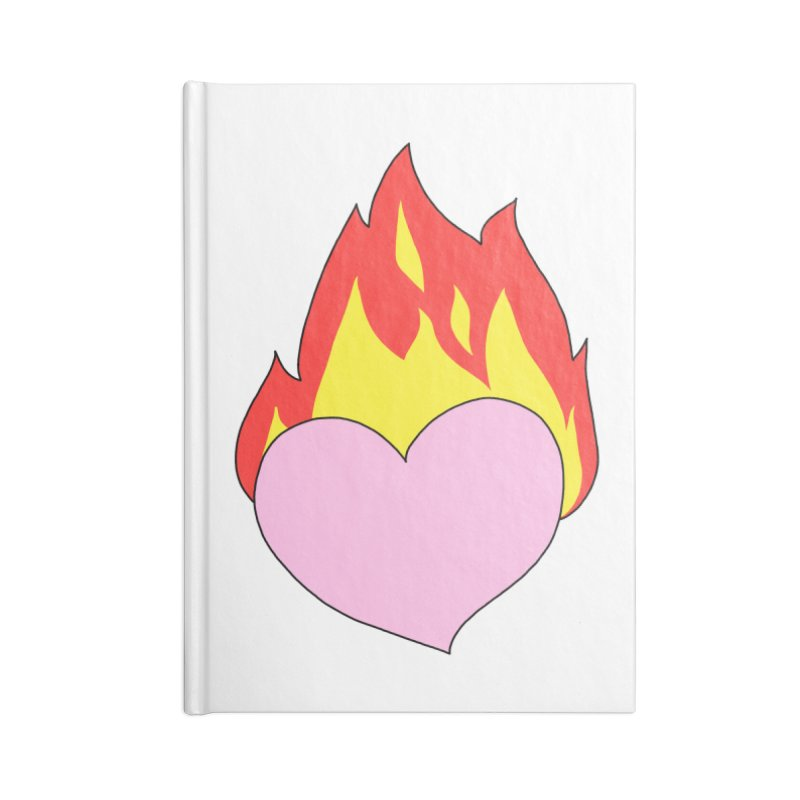 Fiery heart Accessories Blank Journal Notebook by Hello Siyi
