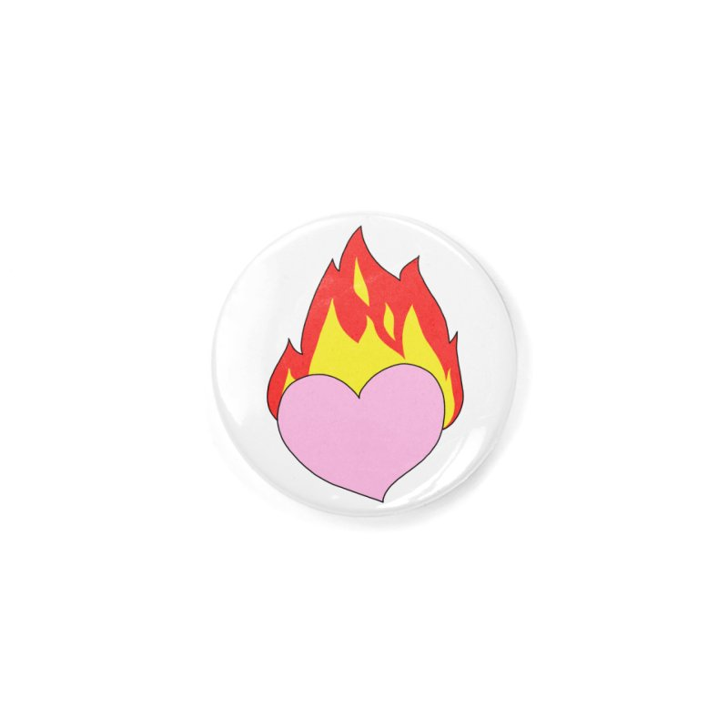 Fiery heart Accessories Button by Hello Siyi