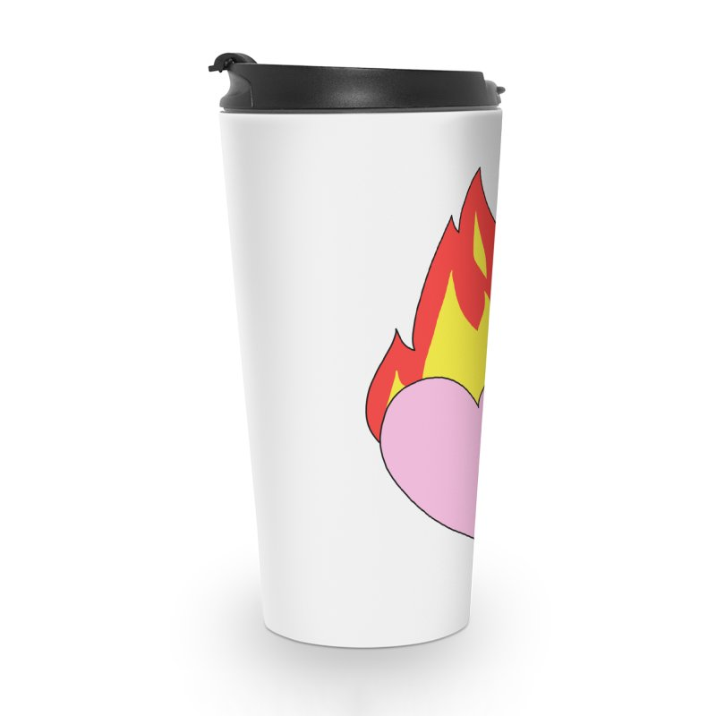 Fiery heart Accessories Travel Mug by Hello Siyi