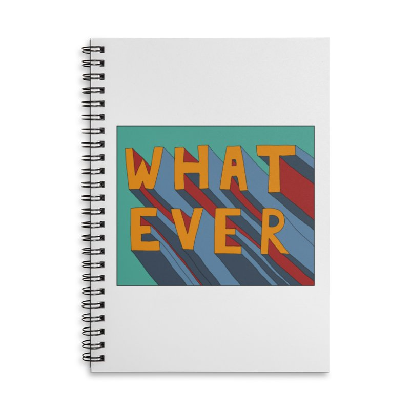 Whatever Accessories Lined Spiral Notebook by Hello Siyi