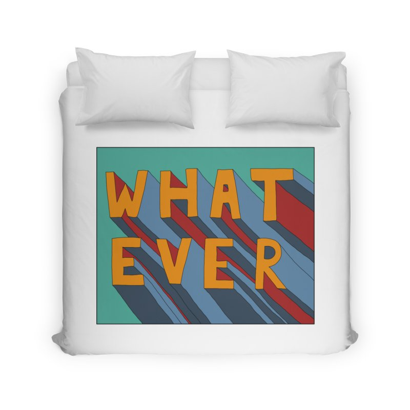 Whatever Home Duvet by Hello Siyi
