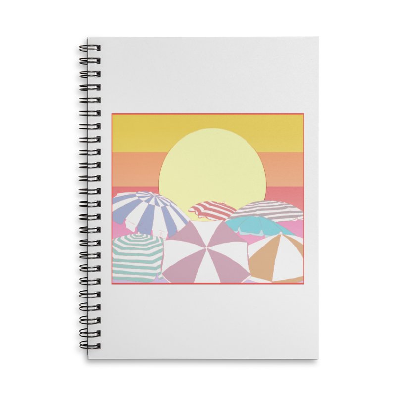 Summer parasols Accessories Lined Spiral Notebook by Hello Siyi