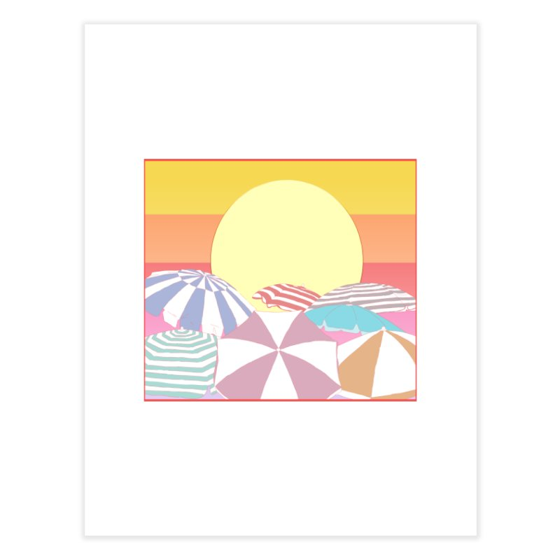 Summer parasols Home Fine Art Print by Hello Siyi