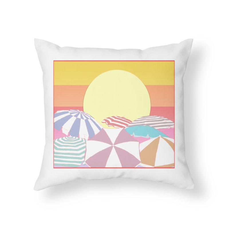 Summer parasols Home Throw Pillow by Hello Siyi