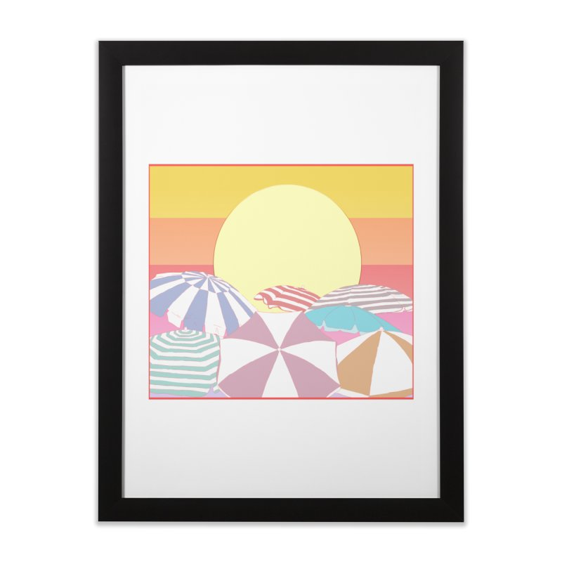 Summer parasols Home Framed Fine Art Print by Hello Siyi