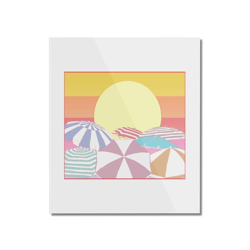 Summer parasols Home Mounted Acrylic Print by Hello Siyi
