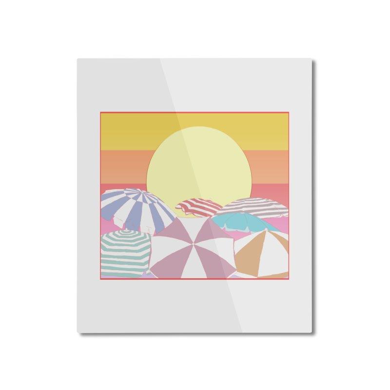 Summer parasols Home Mounted Aluminum Print by Hello Siyi