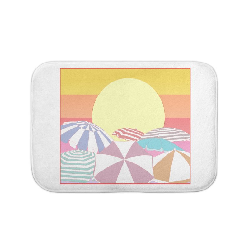 Summer parasols Home Bath Mat by Hello Siyi