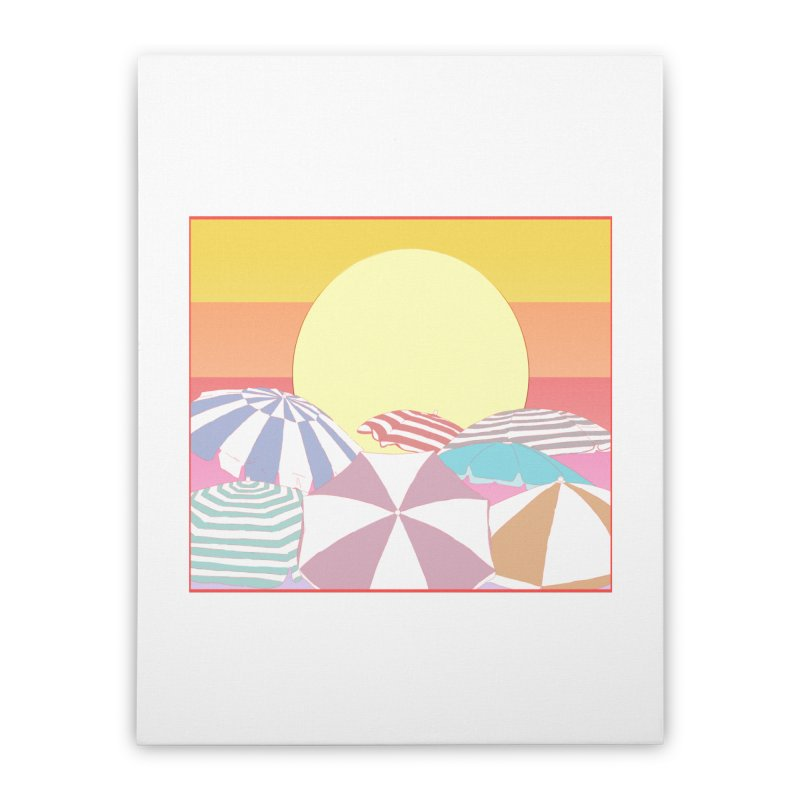 Summer parasols Home Stretched Canvas by Hello Siyi