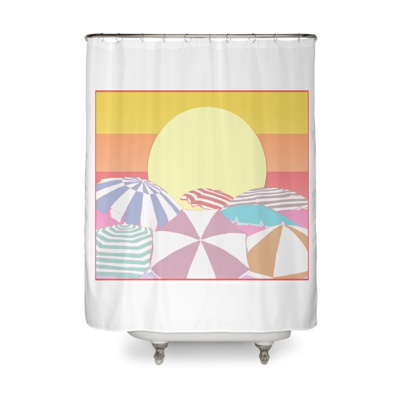 Summer parasols Home Shower Curtain by Hello Siyi