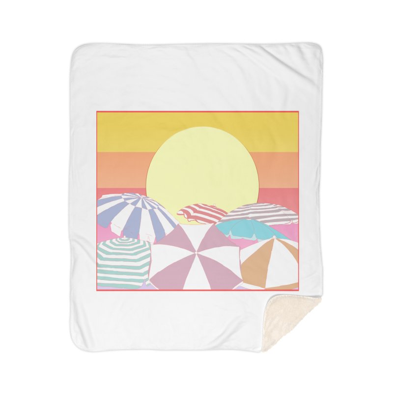 Summer parasols Home Sherpa Blanket Blanket by Hello Siyi