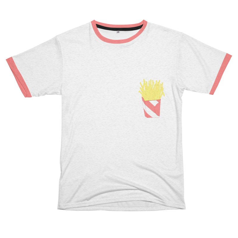 Fries Women's Unisex French Terry T-Shirt Cut & Sew by Hello Siyi